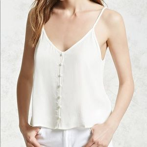 Forever 21 Button Cami